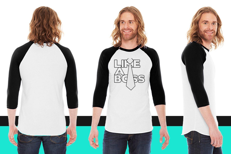 LIKE A BOSS American Apparel Unisex 3/4 Sleeve T-Shirt
