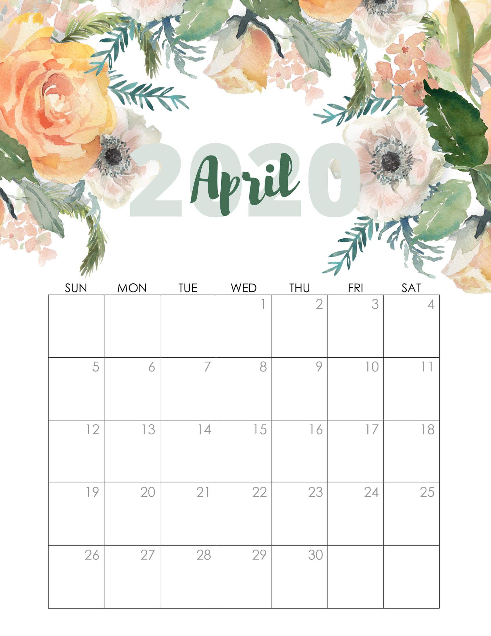 Cute April 2020 Calendar Printable Wallpapers Hd In 2020 Kids