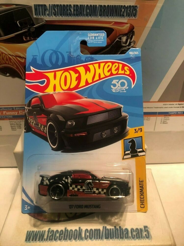 2018 Hot Wheels 07 Ford Mustang New Hw Checkmate Series 3 9
