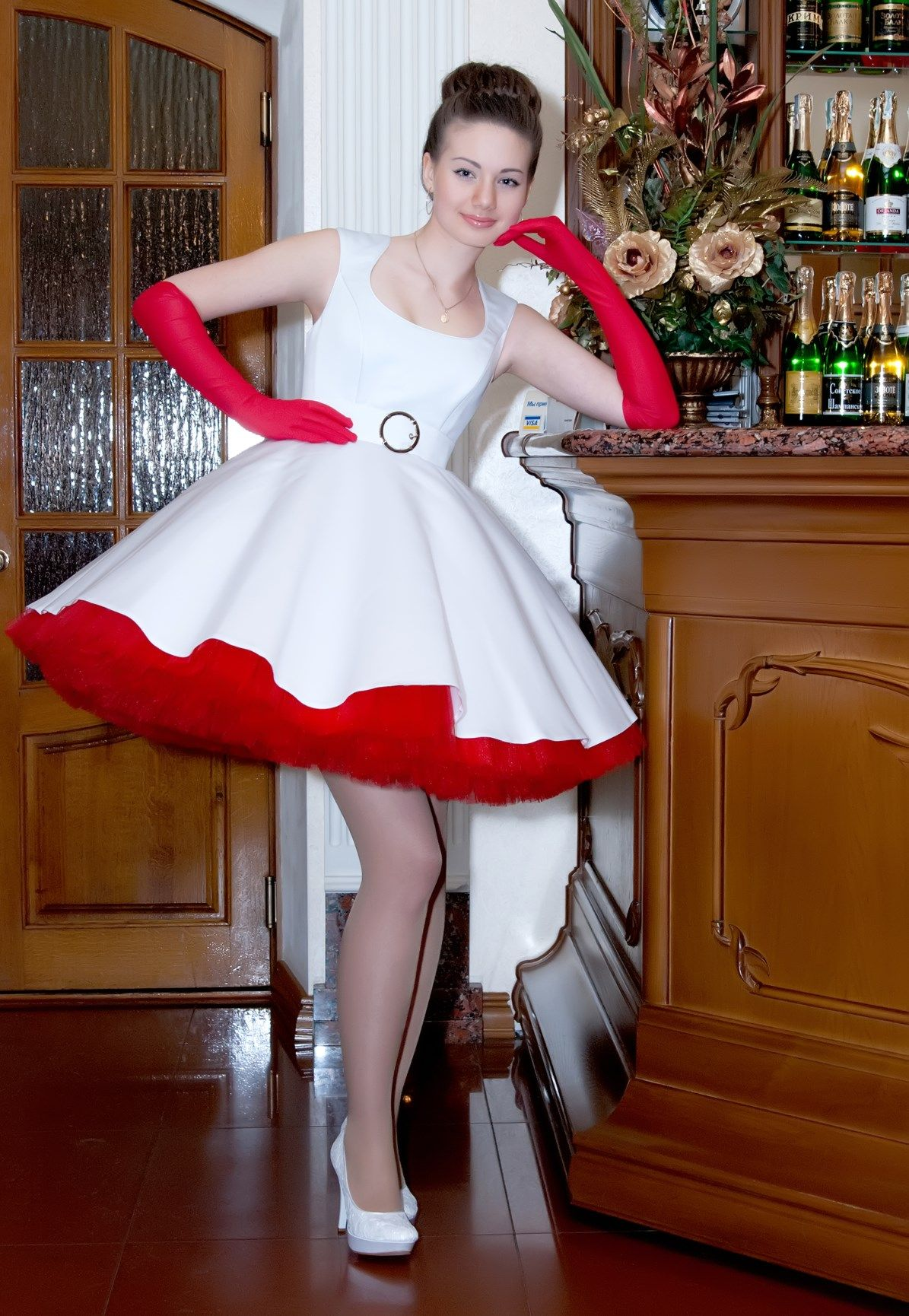Frilly Sissy Tumblr within dress for a party in the new look 50s style www.retro-dress.ru
