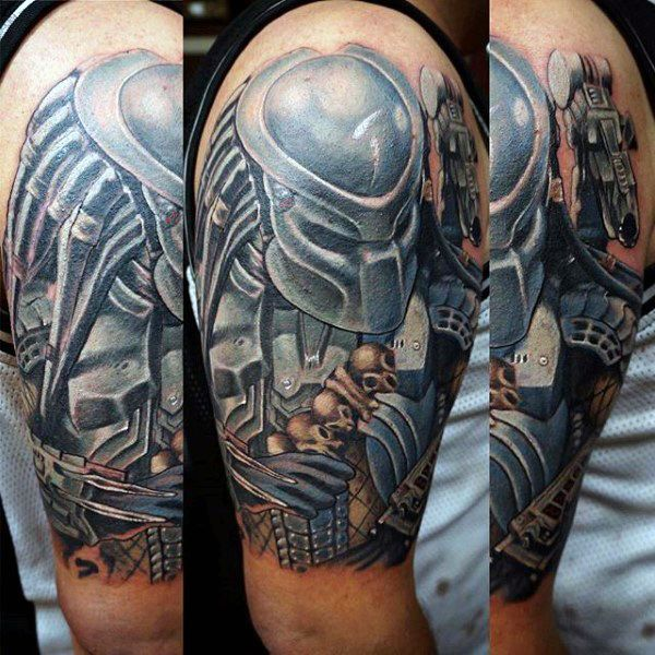 Alien Tattoos Designs Ideas And Meaning: 50 Predator Tattoo Designs For Men