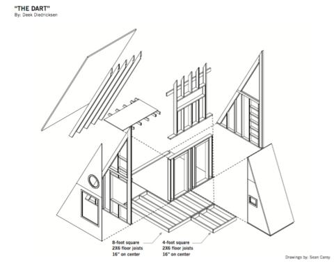 The Dart Plans Pdf File Deek S Half A Frame 2 Story Cabin Tiny H Relaxshacks A Frame Cabin Wood Boat Plans Tiny House