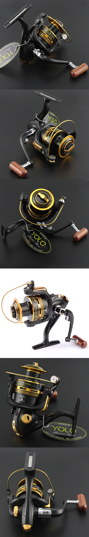 HiUmi 1000-6000 High Quality Peche Fishing Reel 10BB Pesca Spinning ...
