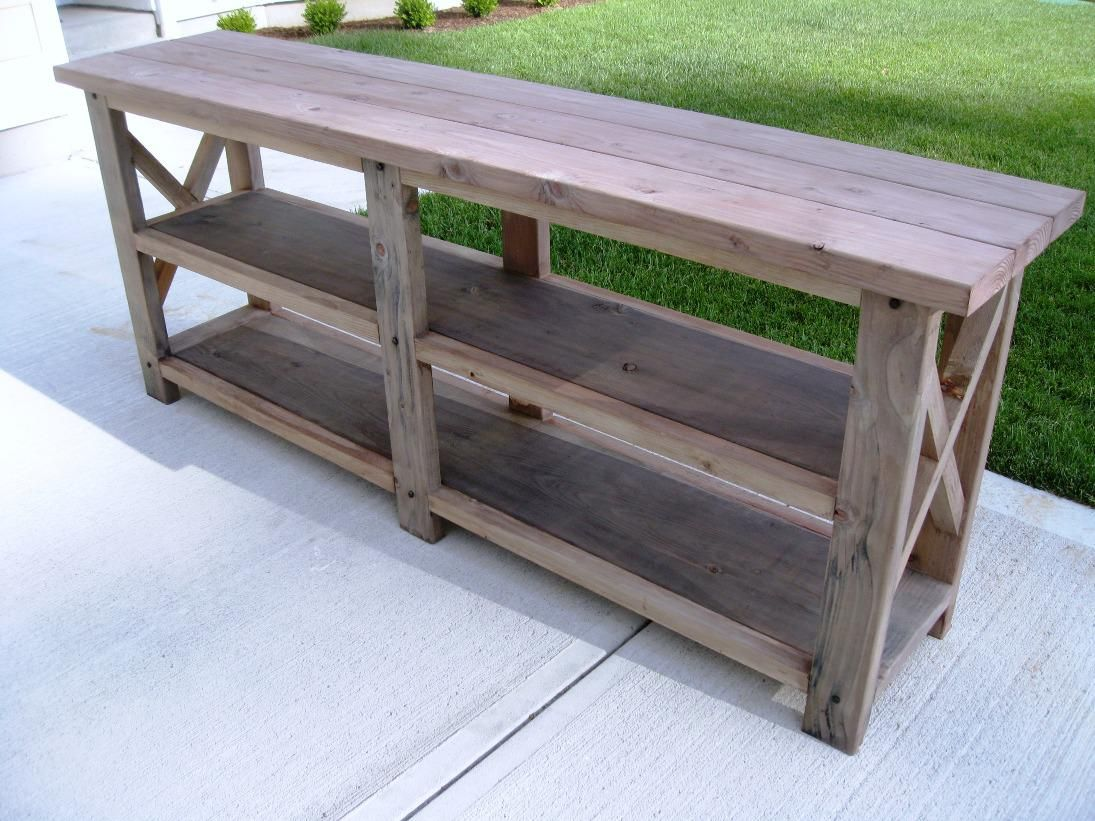 DIY Rustic Console Table Ideas: Best Rustic Distressed Sofa Table Design  Ideas
