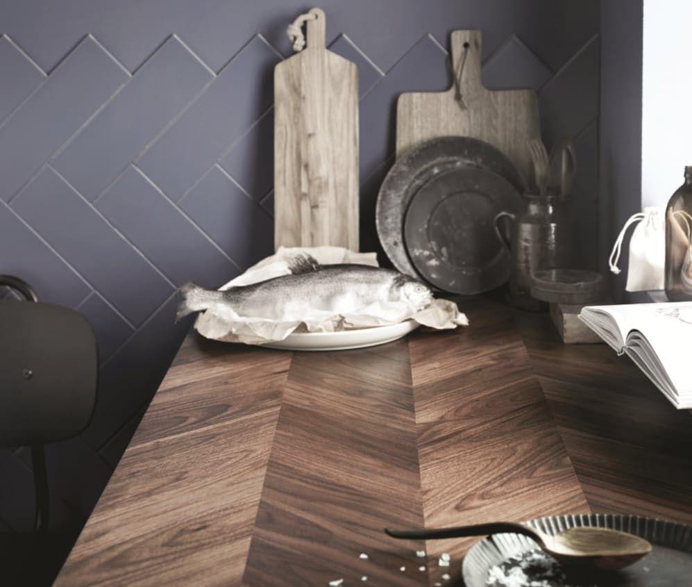 1 Barkaboda Wooden Herringbone Countertop Ikea Kitchen Ikea New Ikea