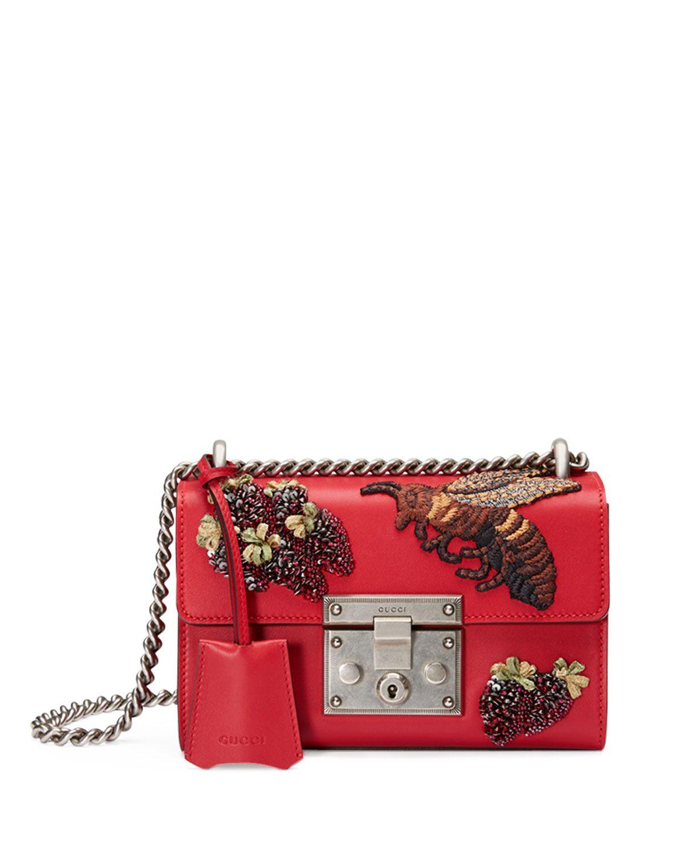 9f87454c5a7b Gucci Padlock Small Embroidered Shoulder Bag