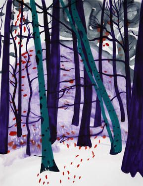 snow forest 29 (green and purple trees)