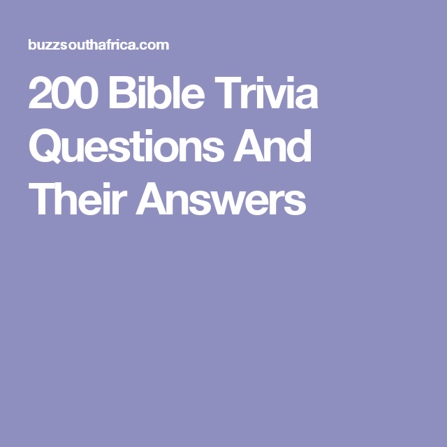 picture relating to Printable Bible Jeopardy Questions and Answers called 200 Bible Trivia Issues And Their Remedies Sunday University