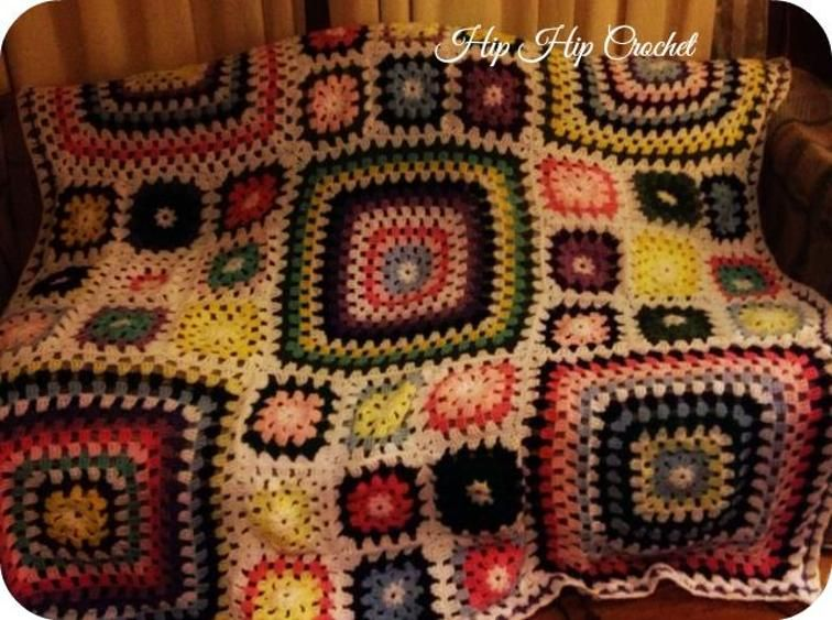 Granny and Great Granny Square Afghan | Craftsy | Granny Squares to ...