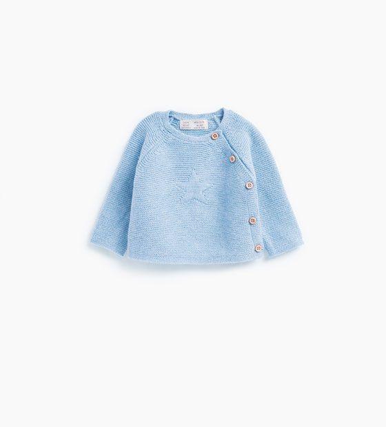 Afbeelding 1 van Basic trui met ster van Zara