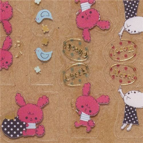 Chou-fleur pink rabbit index stickers bookmarks San-X