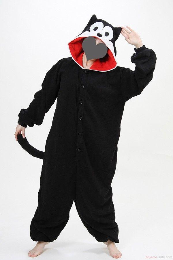 Adult onesies Felix the Cat Kigurumi animal onesies pajama-sale.com ... 4c135580c6646