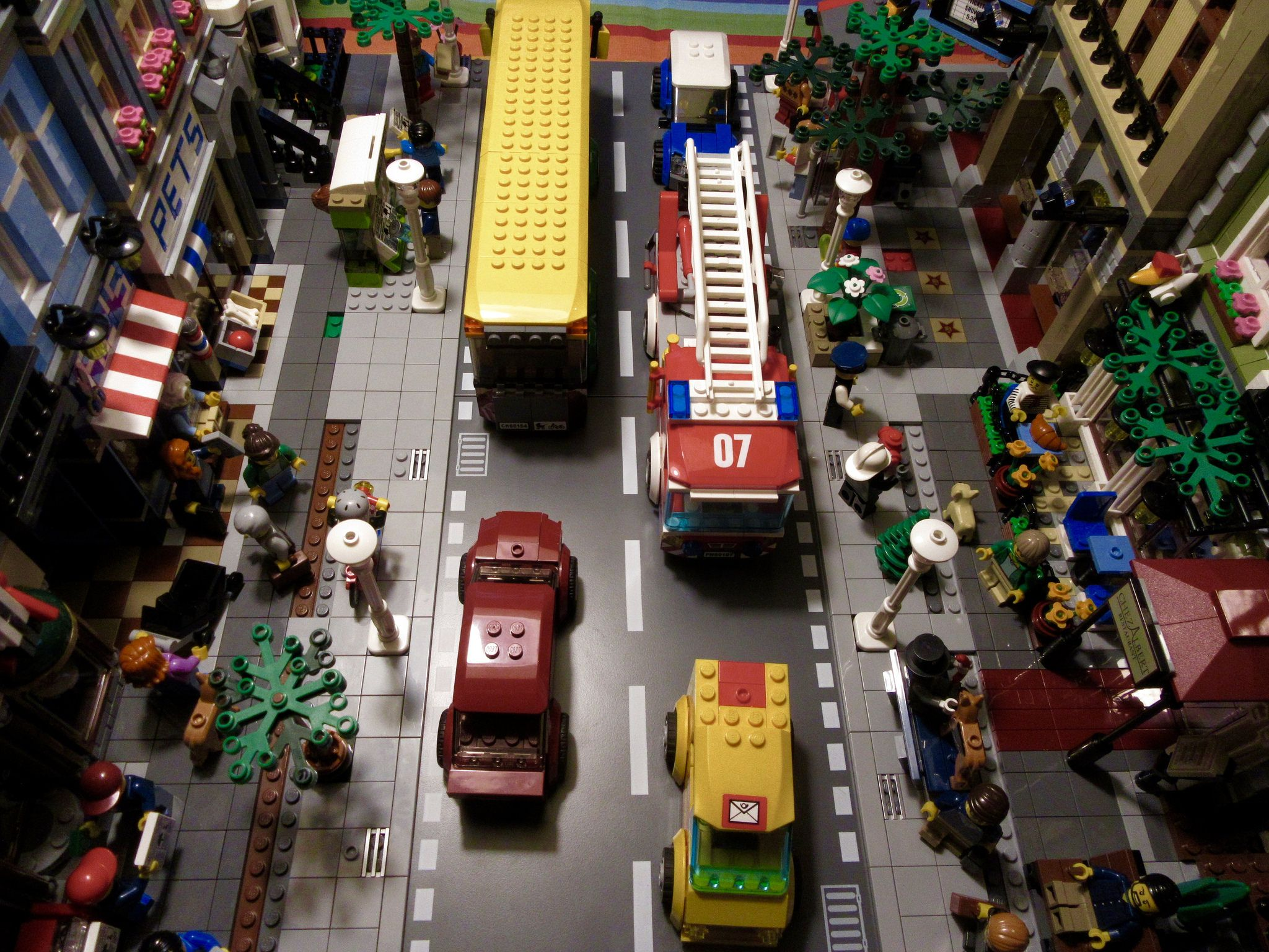 Toys for car journeys  City Streets in progress  Lego city City streets and City