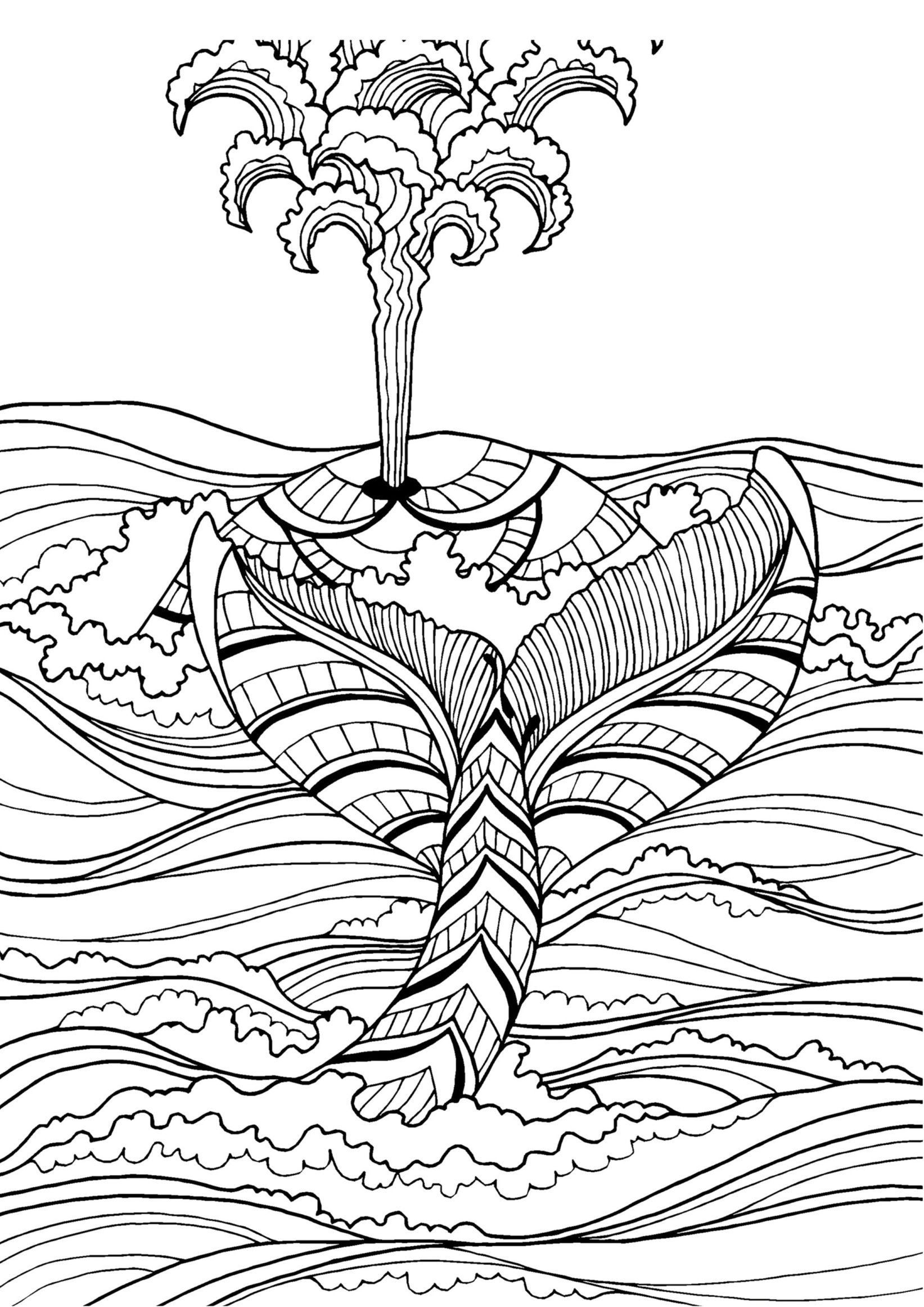 Printable Zentangle Coloring Pages Pdf Fresh Dolphin Page Adult Sheet Nautical Valid Whale