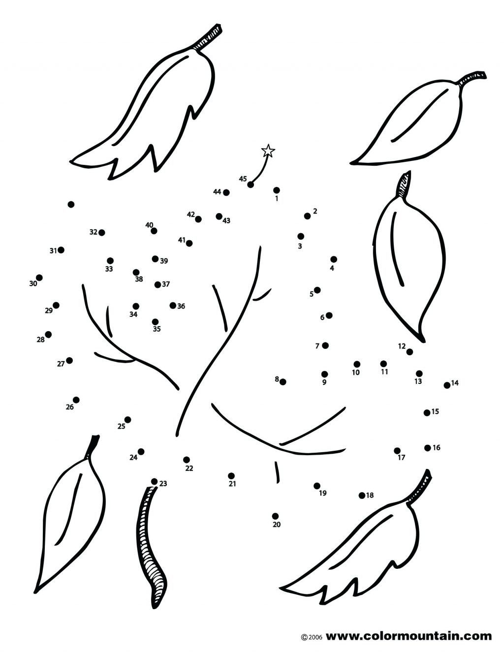 4 Autumn Dot To Dot Printable Worksheets In
