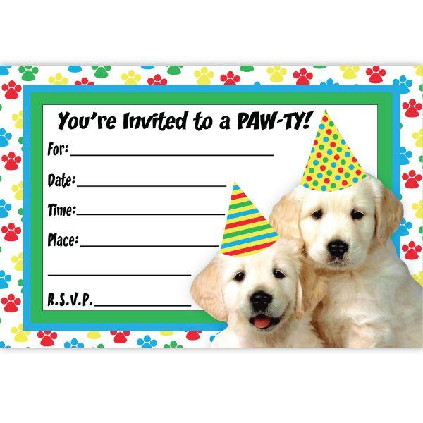 Dog Birthday Invitations 8 At Birthday Direct Dog Birthday Invitations Puppy Invitations Puppy Birthday Party Invitations