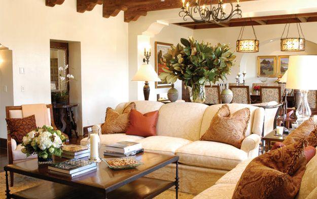 Ojai Valley Inn U0026 Spa   Spanish Mediterranean Hacienda Style Living Room