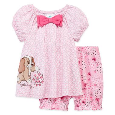 Jcpenney Com Disney Baby Collection Lady And The Tramp 2 Pc Dress
