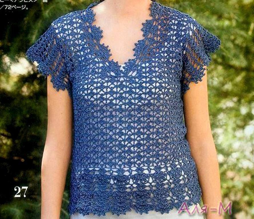 FREE ENGLISH write up by Sweet Nothings Crochet at https://shyamanivas.blogspot.in/2015/12/shelled-cropped-top.html