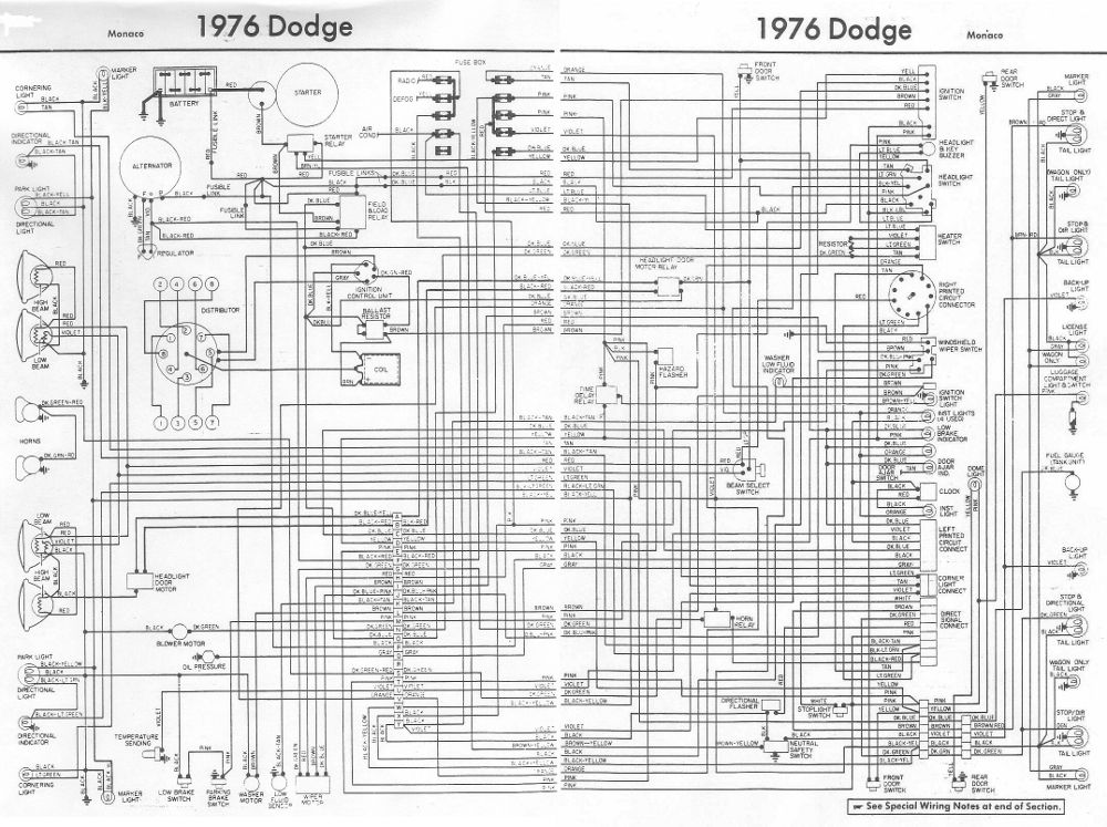 1976 Dodge Truck Wiring Diagram | Dodge, Dodge truck ...