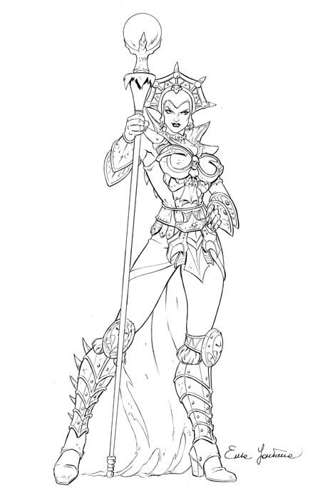 Sorceress Coloring Pages Evil Lyn Sketch He Man Pinterest