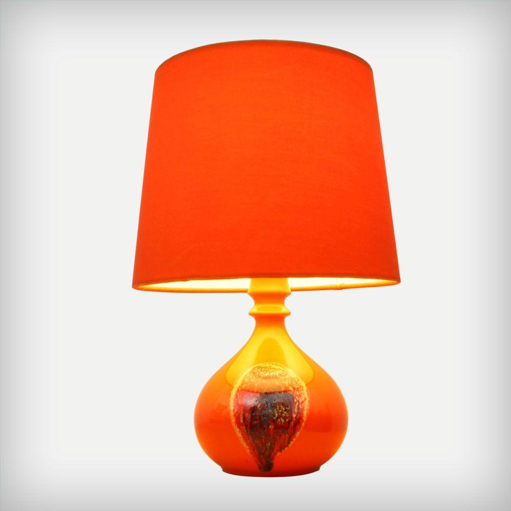 Orange Ceramic Table Lamp By Bjorn Wiinblad For Rosenthal Studio