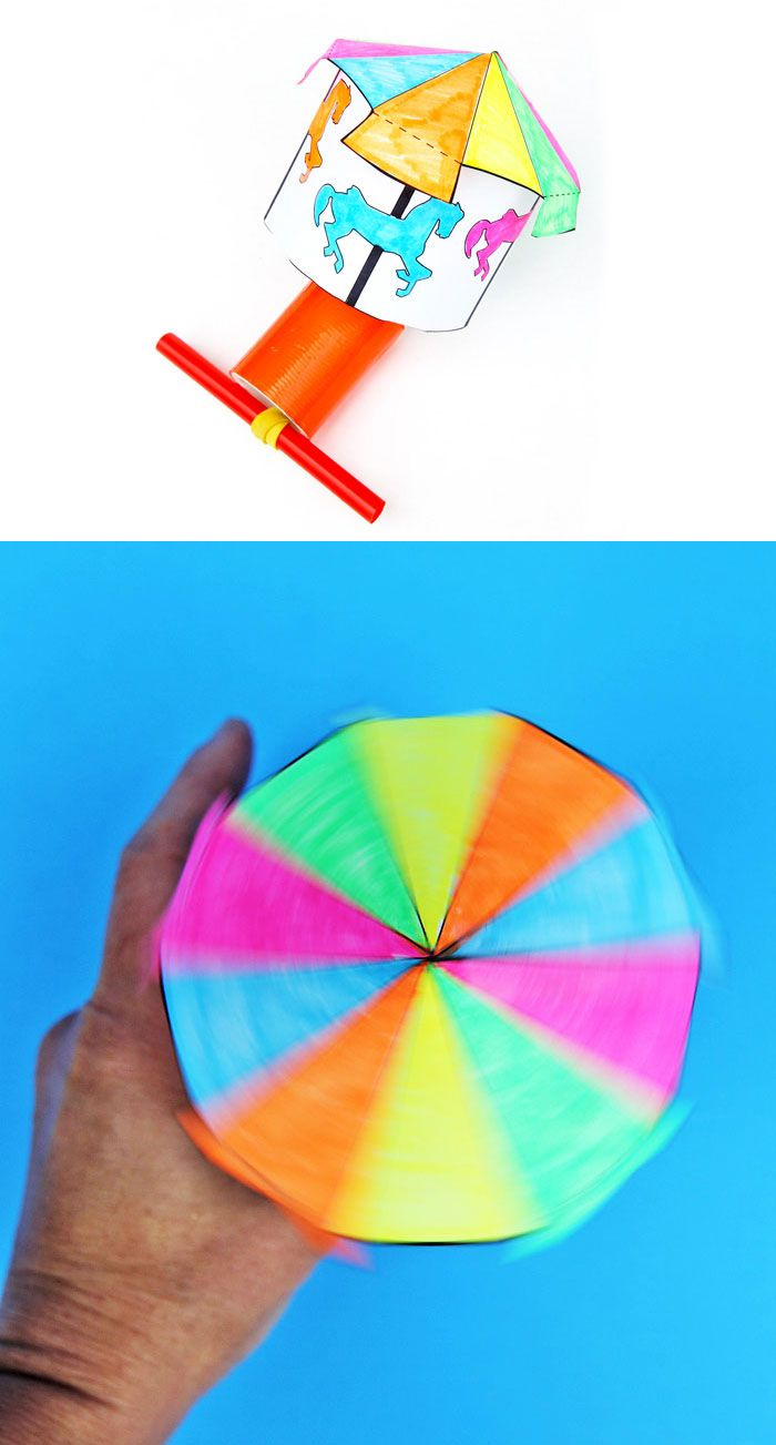 Craft toys for kids - Diy Toy Make A Kinetic Carousel