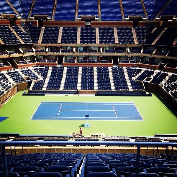 Arthur Ashe Stadium almost prepared for the 2014 US Open.