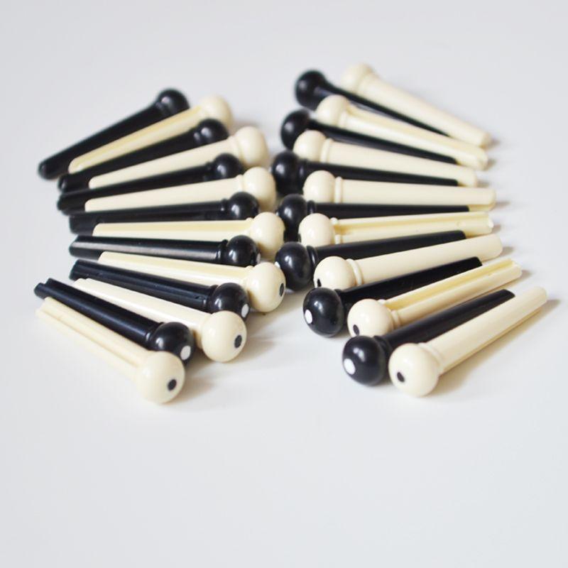 Sale folk guitar strings cone, white black guitar string pins, original folk acoustic guitar accessories