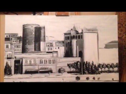Kohne Baki Resm Eseri 1 Hisse Staryj Gorod Baku Risunok 1 Part Old Baku Art Part 1 Painting Art