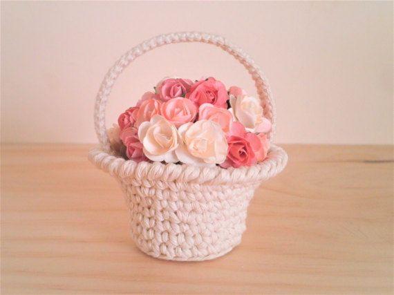 Miniature basket with a handle miniature crochet basket flower miniature basket with a handle miniature crochet basket flower basketfruit basket crochet basketsfruits basketflower basketgifts for womeneaster negle Choice Image