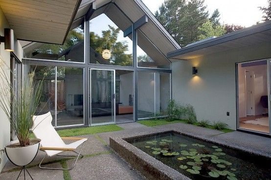 Wraparound house from courtyard looking in | Build-A-House ...