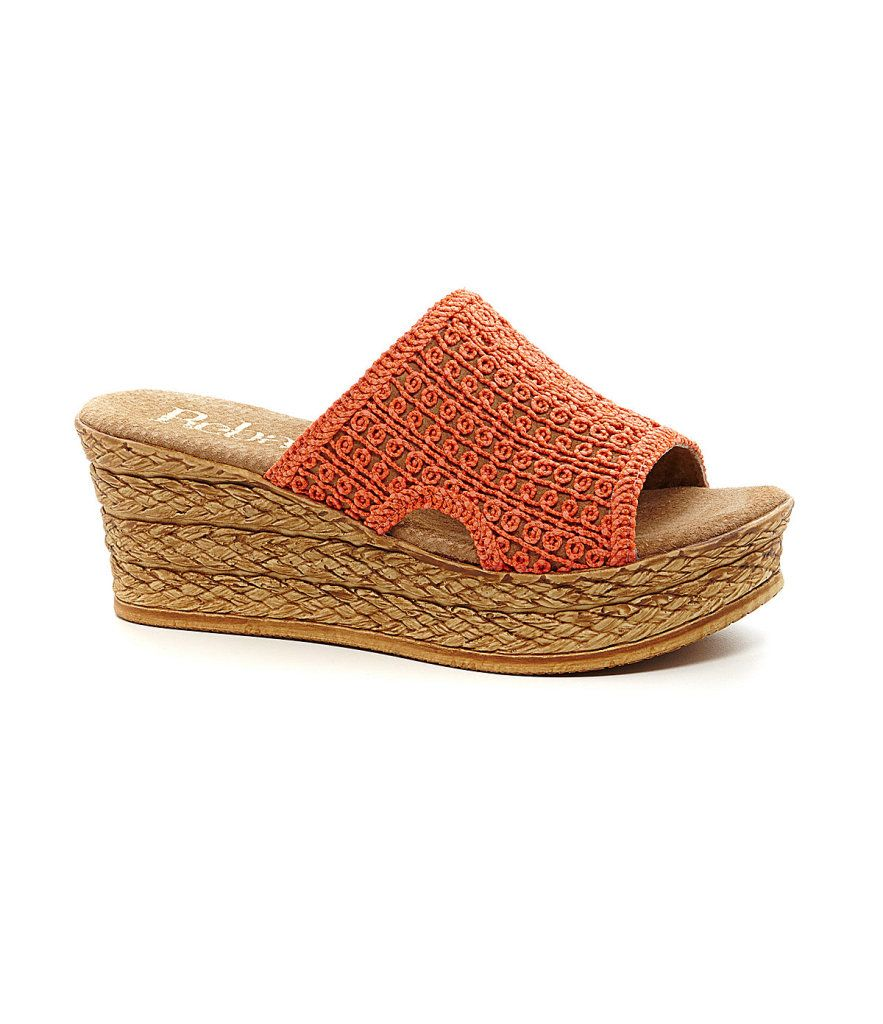 Reba flip flop wedge sandals 8