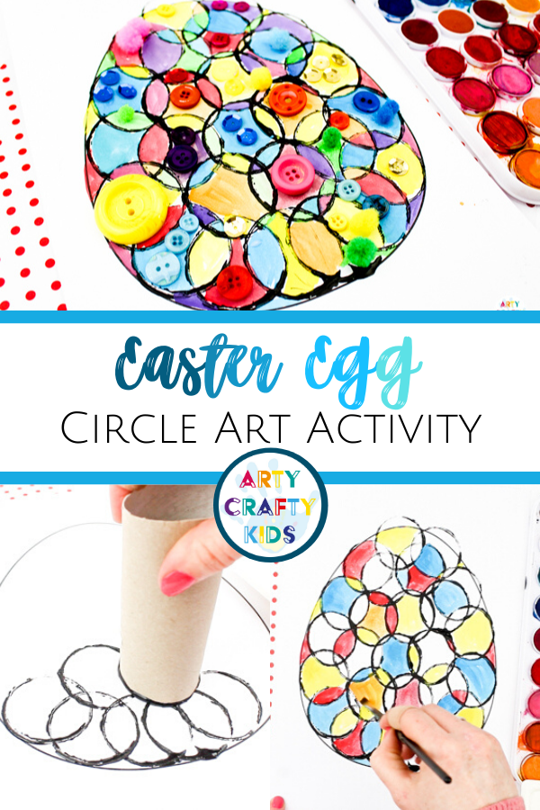 Photo of Circle Easter Egg Art for Kids Activity