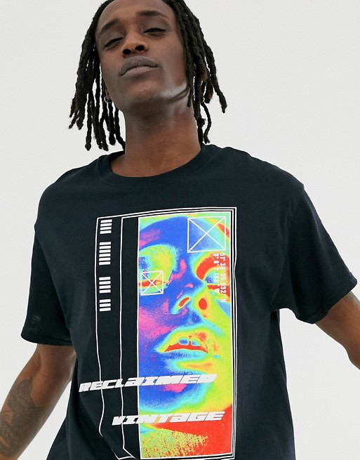 Reclaimed Vintage Oversized T Shirt With Heat Detection Print Shirt Design Inspiration Streetwear Tshirt Shirt Print Design