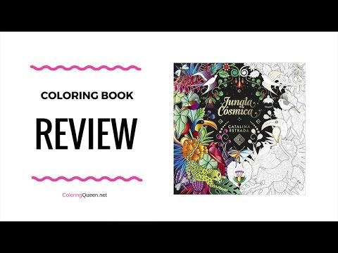 """""""Jungla Cósmica"""" Colouring Book Review illustrated by Catalina Estrada - Click to see the full #coloringbookreview"""