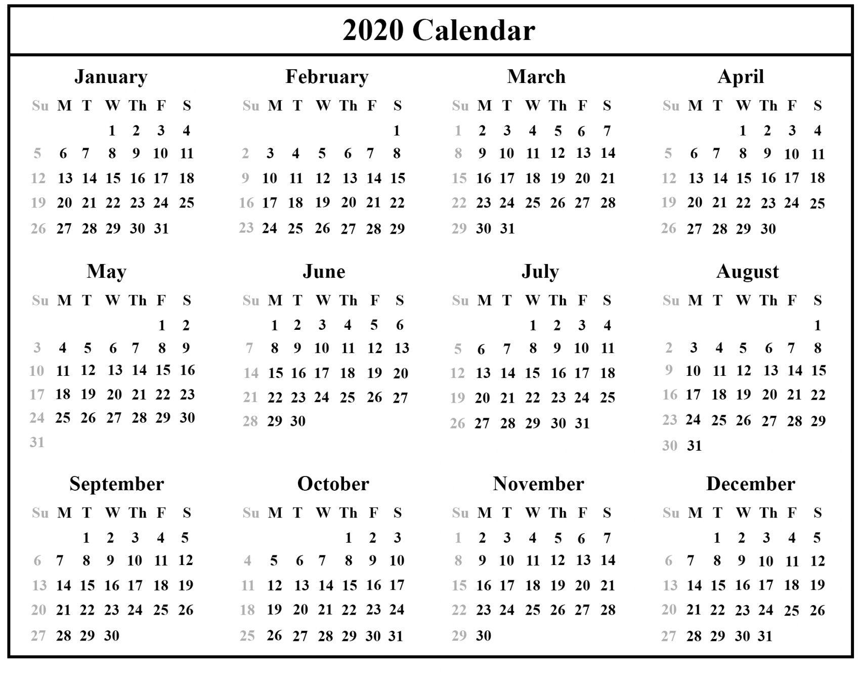 2020 Australian Calendar Printable In 2020 Calendar Printables