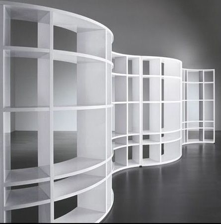 MERIDIANI HOME CURVED BOOKCASE SHELVES Serpentine bookshelf was 3rd of 3  she sent for our review