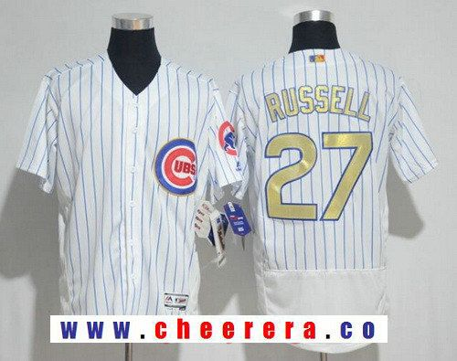 701efbb99 ... authentic jersey mens chicago cubs addison russell white world series  champions gold stitched mlb majestic 2017