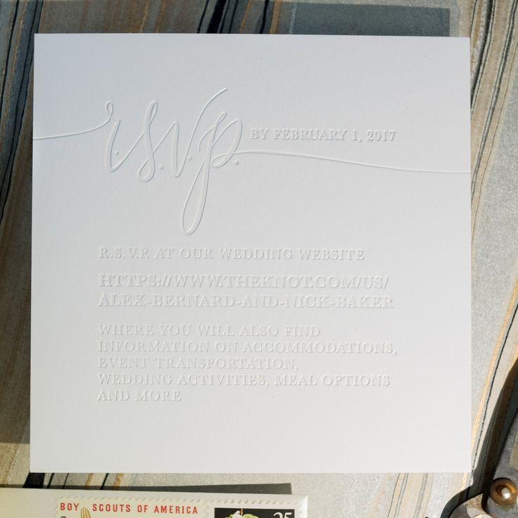 Image result for modern blind embossing wedding invitation | I DO ...