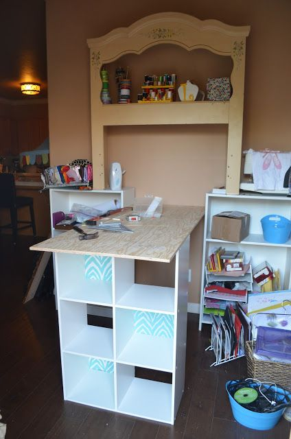 My new work space is complete and I'm excited to share the details with you today.As many of you know, I created a craft closet in my home last spring.It brough