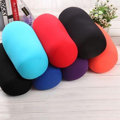 Roll Throw Pillow Mini Microbead Back Travel Home Sleep Neck Support Cushions