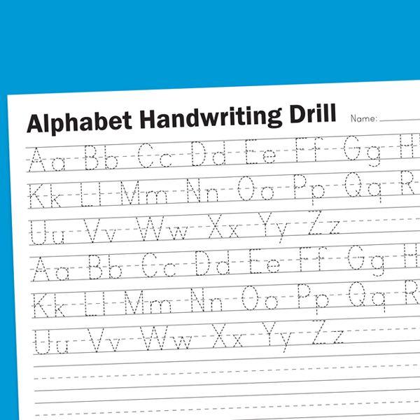 Alphabet Handwriting Drill Worksheet – Alphabet Handwriting Worksheets for Kindergarten