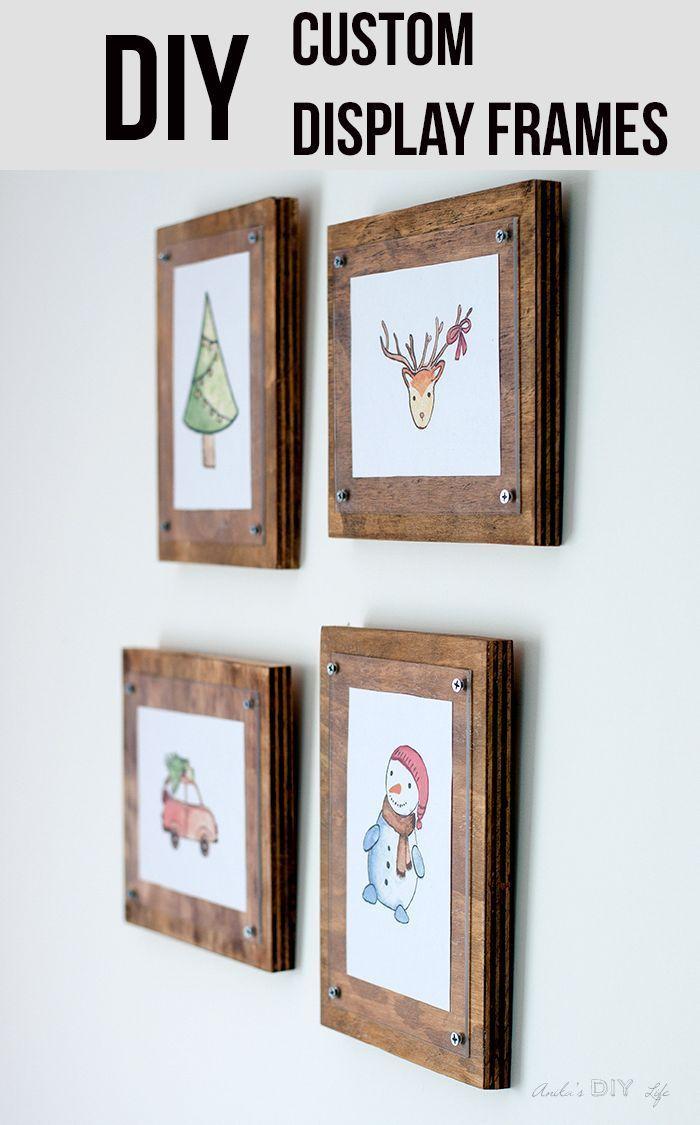 How to Make a Simple Photo Frame | Marcos de cuadros, Marcos y Cuadro