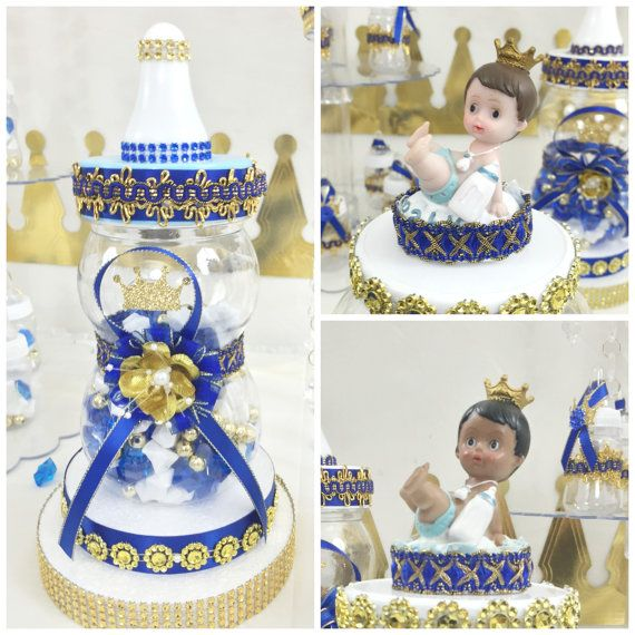 Royal Prince Baby Shower Candy Buffet Centerpiece / Oh Baby Boy Candy  Display/ ROYAL BLUE And GOLD Baby Shower Prince Theme And Decorations