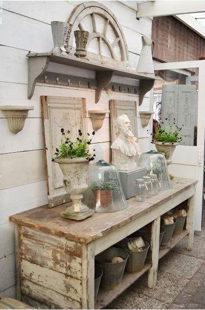 Pin van a helena op rustic at home garden pinterest - Wintergarten mobel landhaus ...