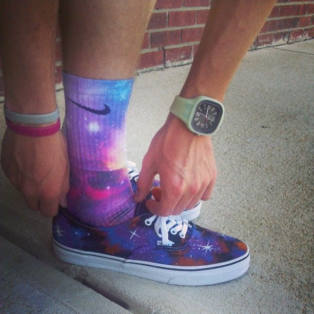 e8f12345879 Galaxy Vans off the wall Galaxy Nike Elite Socks and Teezee Watches ...