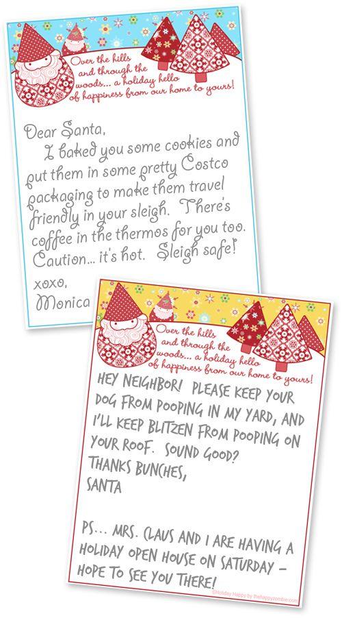 Free Printable Christmas Stationary--Hey, go write your