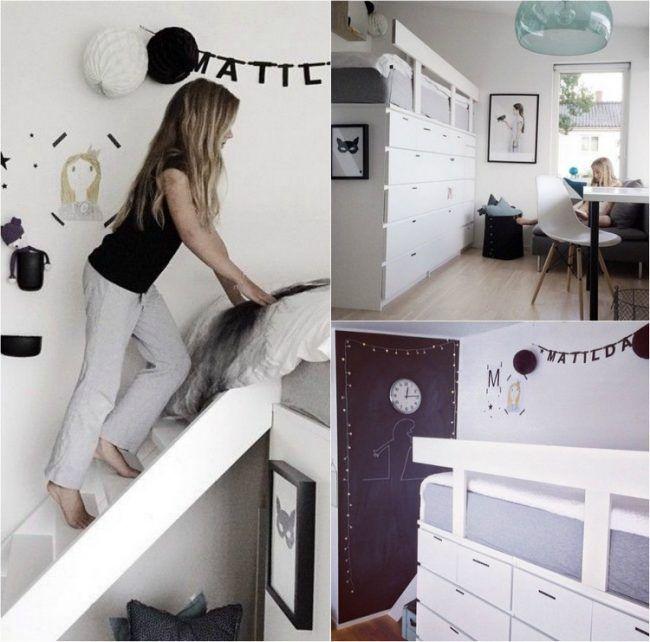 Hochbett selber bauen ikea  hochbett-selber-bauen-ikea-nordli-kommode-hack-kinderbett-treppe ...