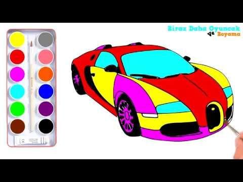 Spor Araba Boyama çocuklar Için Boyama Videoları çocuk şarkıları